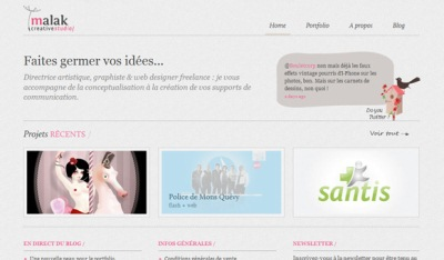 Textures in Web Design: Malak.be