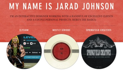 Textures in Web Design: Jarad Johnson