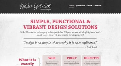 Textures in Web Design: Krista Ganelon