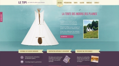 Textures in Web Design: Le Tipi