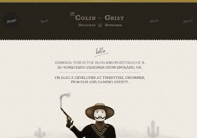 Textures in Web Design: Colin Grist