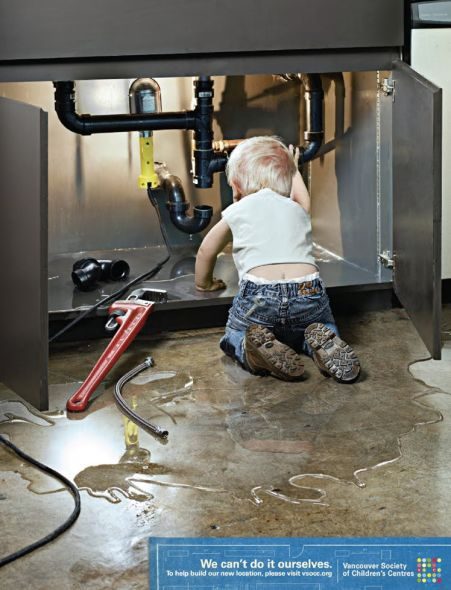 Vancouver Society of Children's Centres: Plumber Print Ad