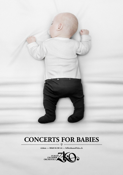 Zurich Chamber Orchestra: Baby Concert Advertising Design
