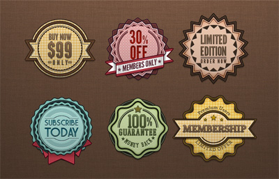 Free Retro Badges Vintage