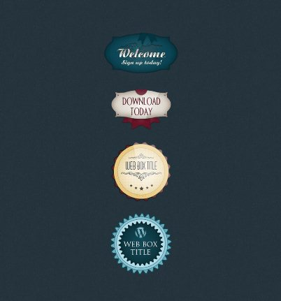 Web Badges PSD