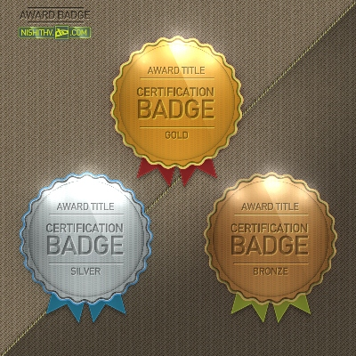 Award Badge PSD