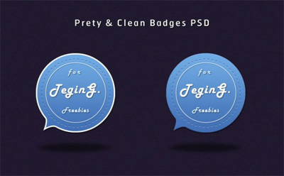 Free Pretty & Clean Badges (PSD)