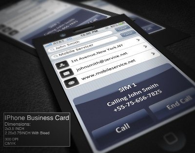 A collection of unique iphone business card designs reheart Gallery