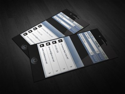 A collection of unique iphone business card designs reheart Image collections