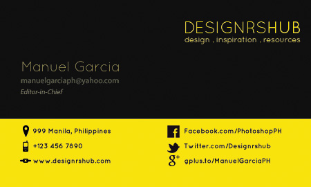 Free Minimal Business Card (Back)