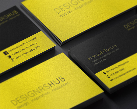 Minimal Business Card Design PSD for Free