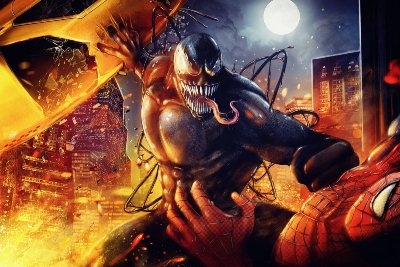 Spiderman vs Venom Illustration Artworks and Fan Arts
