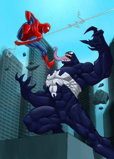 Spiderman Vs Venom Colored