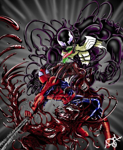 Spiderman vs Venom vs Carnage