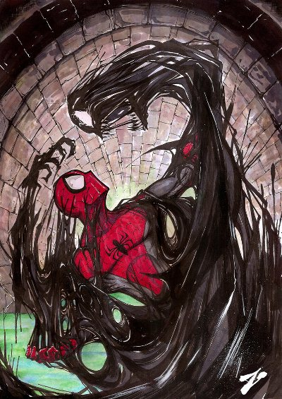 Spiderman vs Venom Symbiot