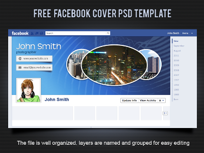 Facebook Timeline Template: 15 Free Facebook Covers (PSD)