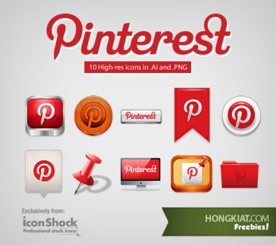[Freebie] Pinterest Icon Set