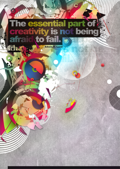 The essential part of creativity is not being afraid to fail