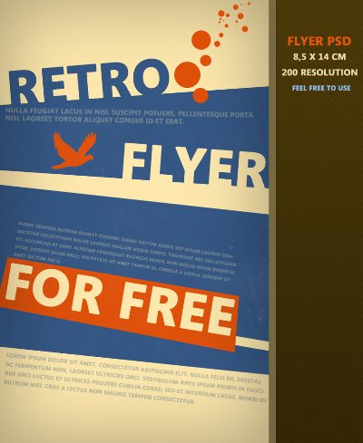 Free Printable Templates: Retro Flyer PSD