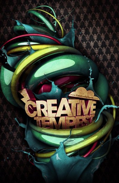 3D Typography: Creative Tempest