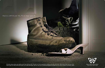 Domestic Violence Advertisement: Bossy Boot