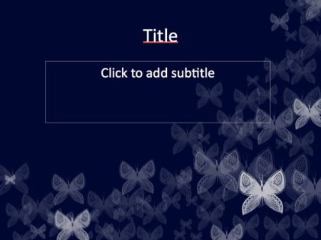 Free PPT Template: Butterfly Powerpoint Template