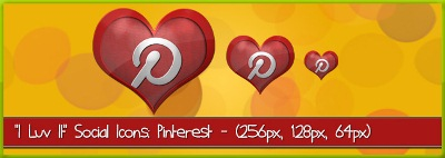 Pinterest Icon (I luv it Social Media Icons)