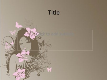 Nice Girl Free PowerPoint Template