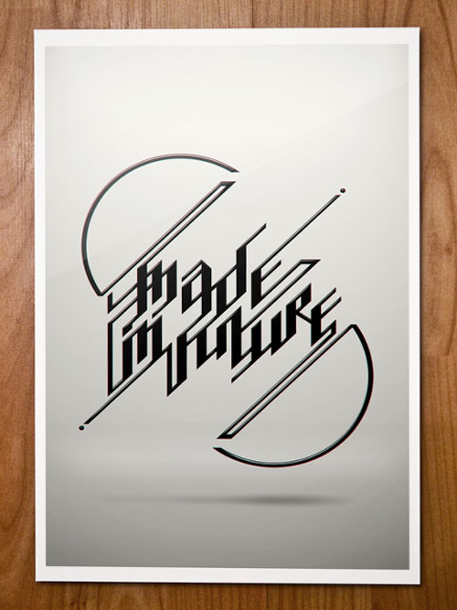 Typography for Posters: Made in Future