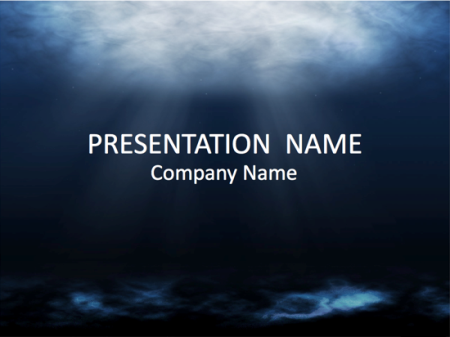 Microsoft PowerPoint Templates: Underwater Scene Background