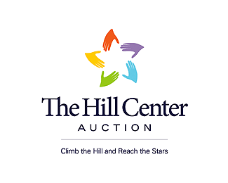The Hill Center Auction Star Logo Design