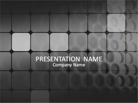 Black Grid PowerPoint Template