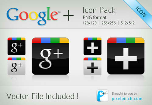 Google Plus Icon Pack Free Download Vector File