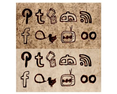 Burnt Wallpaper Social Icons