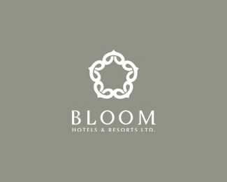 Bloom Hotels Star Logo Design
