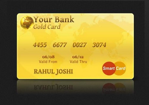 Gold Credit Card Design