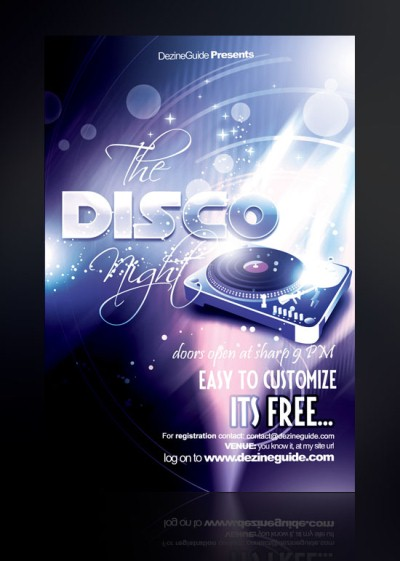 Download Free Disco Night Flyer/Poster Template
