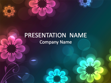 Free PPT Templates: Floral Background Design