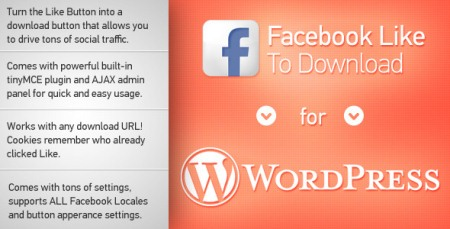 Facebook Like to Download for WordPress