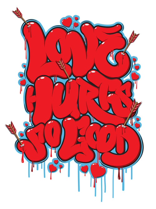 Inspirational Poster Designs: Love Hurts So Good