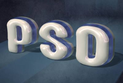 Create Glossy, Plastic, 3D Text in Photoshop CS5 Extended
