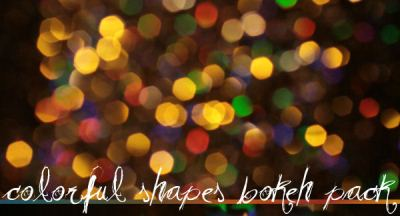 Colorful Shapes Bokeh Pack