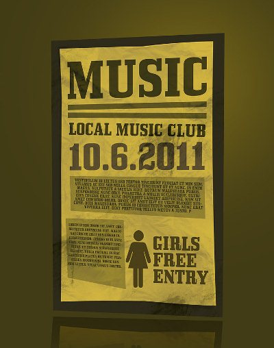 Free Printable Templates: Music Flyer PSD