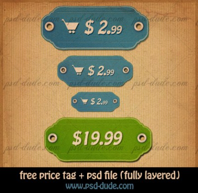 Price Tag Icons with Free Customizable PSD File