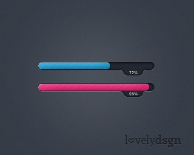 Free Progress / Loading Bar in PSD