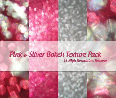 Pink and Silver Bokeh Pack