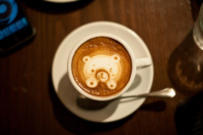 Cute Bear Latte Art