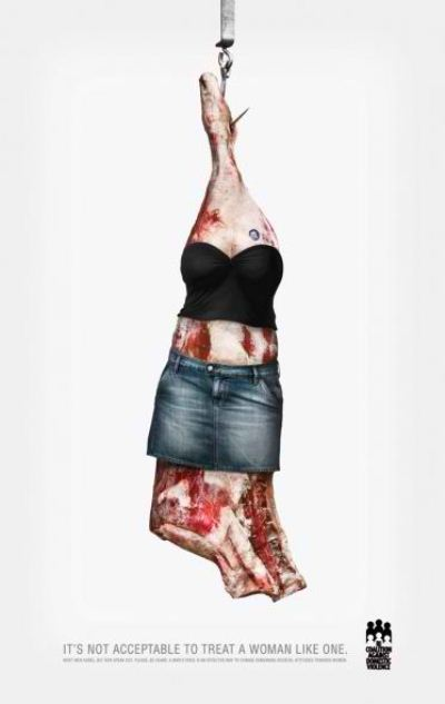 Domestic Violence Ads: Piece of Meat