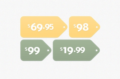Fancy Little Price Tags PSD