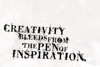 Creativity bleeds from the pen of inspirations